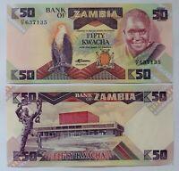 ZAMBIA 50 kwachas 1986. P.28a. Plancha UNC.