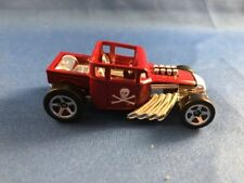 Hotwheels 2006 First Edition Bone Shake Red S Spoke Loose
