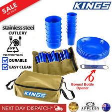 Camping Picnic Set 37 Piece 6Person Picnic Cutlery Pack Set Bag Storage Portable