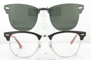 Custom Fit Polarized CLIP-ON Sunglasses For Ray-Ban CLUBMASTER 3016 51x21 RB3016