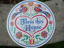 """CONESTOGA CRAFTS Hex Sign, 15"""" Bless This House"""