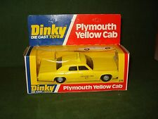 1978 DINKY PLYMOUTH YELLOW CAB MINT IN PACKAGE #278