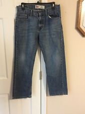 "LEVI'S 505 STRAIGHT BOY`S SIZE 12 HUSKY DENIM JEANS 32""W X 27""L  BLUE JEAN PANTS"