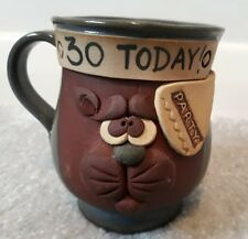 Hand made mug cat gift present novelty Birthday 30 Today! NEW Boxed  LOOK