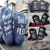 Womens Mens Unisex Cotton Socks Letters Print Dobby Is Free  Sport Funny Socks