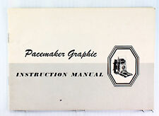 Original Graflex Pacemaker Graphic 4 x 5 inch Instruction Manual