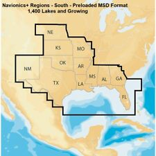 Lowrance Navionics+ Regions South Marine and Lake Charts- Preloaded MSD Format