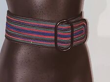 "Unusual 3"" Wide Corded & Woven Belt Waist 29 to 30"
