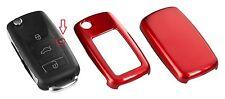 für VW Seat Skoda Schlüssel Cover Hülle Blende Rot Metallic C01