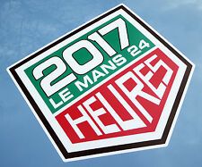 LE MANS 24 HOURS 2017 LARGE PAIR of stickers decals 350mm tall easy apply vinyl
