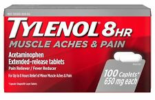TYLENOL 8 HR Muscle Aches Pain Fever Acetaminophen Extended Release 100 Caplets