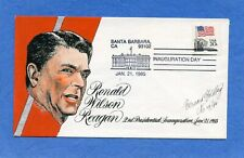 Ronald Reagan Inauguration 1985 Goldberg Hand Painted Cachet First Day Cover #3