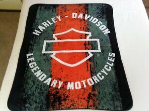 Harley-Davidson Legendary Motorcycles Fleece Throw Blanket 50'' x 60''