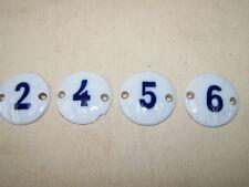 Inserisci vecchio Numeri 4 Pezzi Porcellana Scudo Mobile farmacista