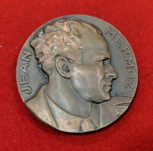 Hommage à Jean MERMOZ Médaille par BLIN 1936 Paris