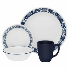Corelle true blue 16 PC dinnerware set paypal FREE Shipping