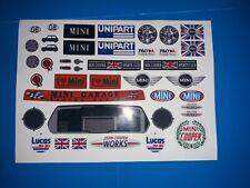 Personalizado media hoja Tamiya Mini Cooper Hpi Losi Rc 1/10th pegatinas etiquetas adicionales