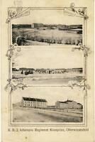 AK München, K.B.2. Infanterie Regiment Kronprinz, Oberwiesenfeld, gel. 4.11.1911