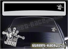 SS5055 JDM Kings stickerbomb Car sun strip graphics stickers Subaru Toyota