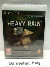 HEAVY RAIN - SONY PS3 - NUOVO SIGILLATO PRIMA STAMPA VERSIONE ITALIANA PAL