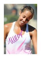 Madison Keys A4 signed photograph poster. Choice of frame.