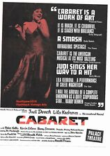 1968 Judi Dench in Cabaret at the Palace Theatre London Vintage Print Advert.