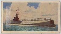 Grampus-class Minelaying Submarine Royal Navy WWII  80+ Y/O Trade Ad Card