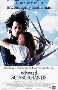 Edward Scissorhands movie poster (b)  : 11 x 17 inches  - Johnny Depp poster