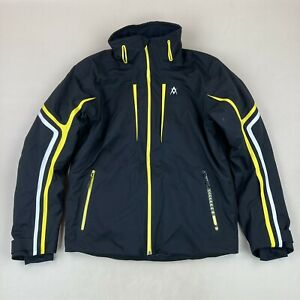 Volkl Black & Yellow Team Speed Ski Jacket Sensortex Stretch CPi Insulation Sz M