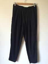 Helmut Lang Black Stretch Pants Size Small Pockets Tapered