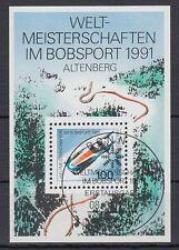 Germany Bund BRD 1991 Θ BONN Bl.23 Bob Schlitten Sledge Bobber Winter Sports