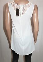Katies Brand Ivory White Lace Shoulder Top Size 8 BNWT #SL22