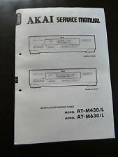 Original Service Manual  Akai Quartz Synthesizer Tuner AT-M430L AT-M630L