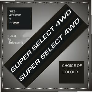 Pair of Super Select 4WD Decals Mitsubishi