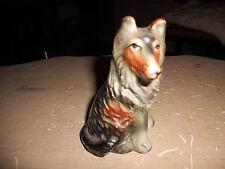 """* Vintage 4"""" glazed Border Collie dog figure Made in Japan * L@K!"""