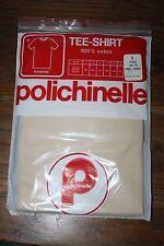 Sous Vêtement - Tee Shirt Homme Polichinelle coton beige Taille 1 Vintage neuf