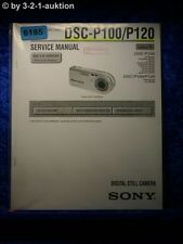 Sony Service Manual DSC P100 /P120 Level 1 Digital Still Camera (#6185)