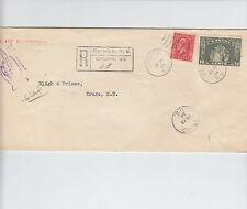 1934 Medallion Registered cover Berwick Ns Return to Sender Canada