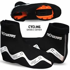 Waterproof Neoprene Cycling Shoe Covers Bike Cycle Overshoes Mens Womens Red
