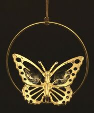 24K GOLD PLATED BUTTERFLY FIGURINE/ORNAMENT STUDDED W/ SWAROVSKI CRYSTAL ELEMENT