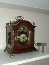 Dutch Warmink Westminster 8 day,Walnut, table/bracket/mantle clock,Moon phase