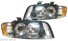 New Replacement Halogen Headlight Assembly PAIR / FOR 2002-05 AUDI A4 HARD TOP