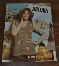 Knitting Pattern-Unger Britania -1451, 1452, 1453, 1454, 1455 -combined shipping