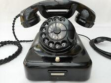 ALTES BAKELIT TELEFON  W 48 / 49   + 7 / 1961  + Hagenuk + volle Funktion + TAE