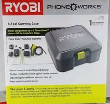 RYOBI PHONE WORKS 5-Tool Storage & Carrying Case ~ Foam Inserts Protect Devices
