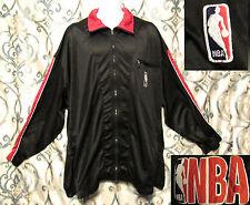 Nike NBA Basketball XXXL Polyester Warm Up Jacket Black W Red Trim Full Zip Up