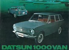 Datsun Nissan 1000 Sunny Estate 1968-69 UK Market Single Sheet Sales Brochure