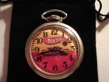 1970s Westclox Pocket Watch Hot Wheels Sales/Service Theme Dial & Case Runs Well
