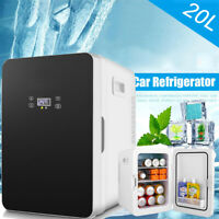 20L Mini Refrigerator Low Noise Cooler and Warmer Car Household Dual-Use Fridge
