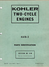 Kohler Two Cycle Engines Snowmobile Parts Manual K618-2 msc4